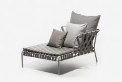 DAYBED/MERIDIENNE SANGLE ET ALUMINIUM OUTDOOR