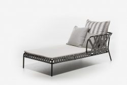 DAYBED/MERIDIENNE LONGUE SANGLE ET ALUMINIUM OUTDOOR